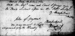 1807 plea by Adam Brown (Missouri State Archives, Microfilm C50412, Folder 36, Box 36)